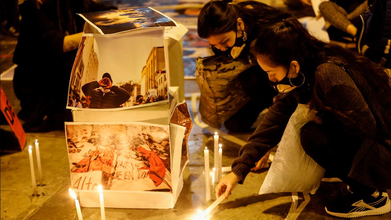 Homenaje a las víctimas de la represión policial ocurrida el 14N. (Foto: Antonio Melgarejo / GLR)