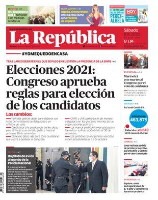 Edición Impresa - La Republica | Lima - Sabado 08 de Agosto del 2020