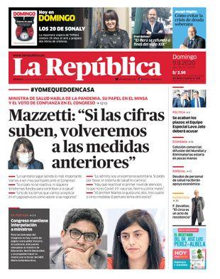 Edición Impresa - La Republica   Lima - Domingo 09 de Agosto del 2020