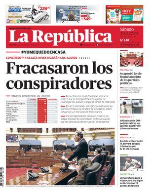 Edición Impresa - La Republica | Lima - Sabado 19 de Setiembre del 2020