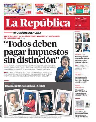 Edición Impresa - La Republica | Lima - Miercoles 23 de Setiembre del 2020