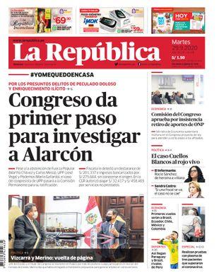 Edición Impresa - La Republica | Lima - Martes 29 de Setiembre del 2020