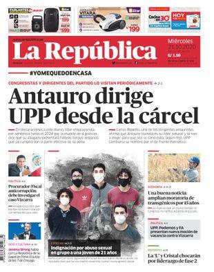 Edición Impresa - La Republica | Lima - Miercoles 21 de Octubre del 2020