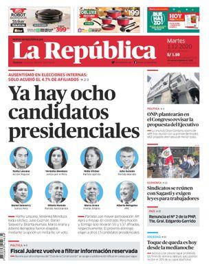 Edición Impresa - La Republica   Lima - Martes 01 de Diciembre del 2020