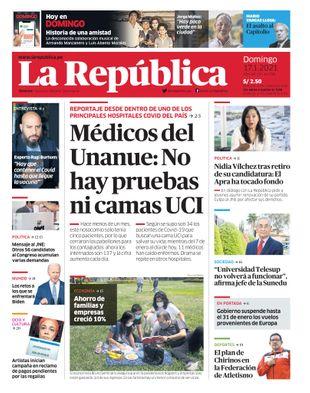 Edición Impresa - La Republica | Lima - Domingo 17 de Enero del 2021