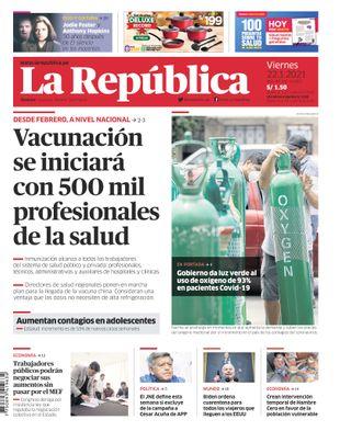 Edición Impresa - La Republica | Lima - Viernes 22 de Enero del 2021