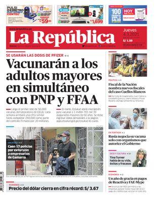 Edición Impresa - La Republica | Lima - Jueves 04 de Marzo del 2021