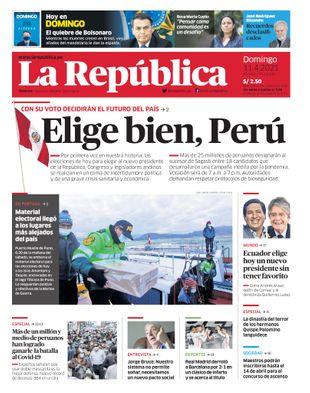 Edición Impresa - La Republica | Lima - Domingo 11 de Abril del 2021