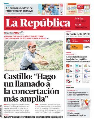 Edición Impresa - La Republica | Lima - Martes 13 de Abril del 2021