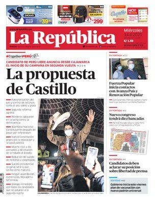 Edición Impresa - La Republica | Lima - Miercoles 14 de Abril del 2021