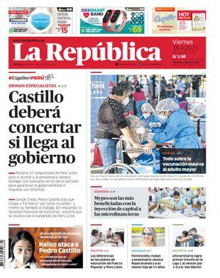 Edición Impresa - La Republica | Lima - Viernes 16 de Abril del 2021