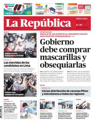Edición Impresa - La Republica | Lima - Miercoles 21 de Abril del 2021