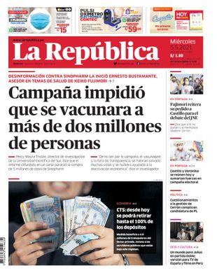 Edición Impresa - La Republica | Lima - Miercoles 05 de Mayo del 2021