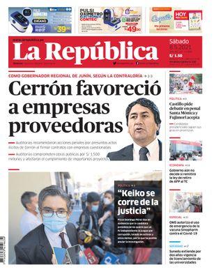 Edición Impresa - La Republica   Lima - Sabado 08 de Mayo del 2021