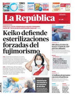 Edición Impresa - La Republica | Lima - Sabado 15 de Mayo del 2021