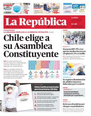 Edición Impresa - La Republica | Lima - Lunes 17 de Mayo del 2021