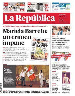 Edición Impresa - La Republica | Lima - Martes 18 de Mayo del 2021