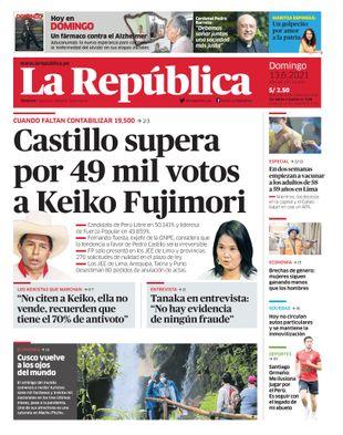 Edición Impresa - La Republica | Lima - Domingo 13 de Junio del 2021