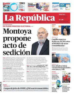 Edición Impresa - La Republica | Lima - Martes 15 de Junio del 2021