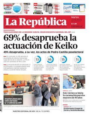 Edición Impresa - La Republica | Lima - Martes 22 de Junio del 2021