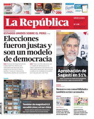 Edición Impresa - La Republica | Lima - Miercoles 23 de Junio del 2021