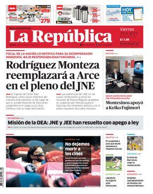Edición Impresa - La Republica | Lima - Viernes 25 de Junio del 2021