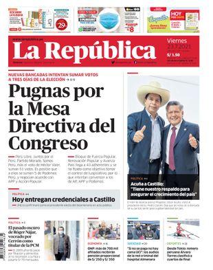 Edición Impresa - La Republica | Lima - Viernes 23 de Julio del 2021