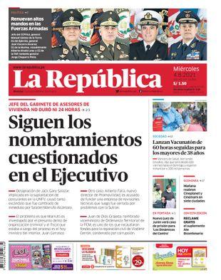 Edición Impresa - La Republica | Lima - Miercoles 04 de Agosto del 2021