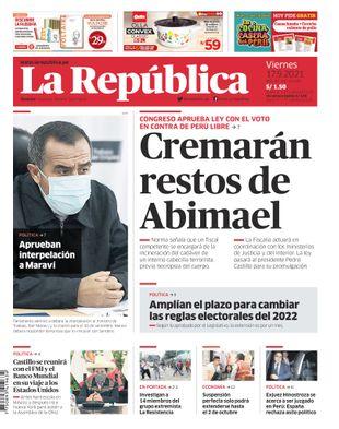 Edición Impresa - La Republica | Lima - Viernes 17 de Setiembre del 2021