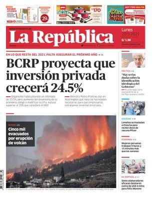Edición Impresa - La Republica | Lima - Lunes 20 de Setiembre del 2021
