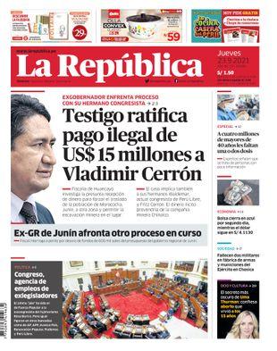 Edición Impresa - La Republica | Lima - Jueves 23 de Setiembre del 2021