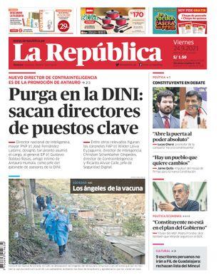 Edición Impresa - La Republica | Lima - Viernes 24 de Setiembre del 2021