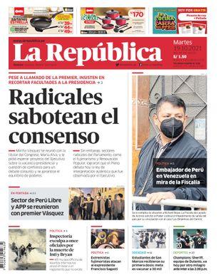 Edición Impresa - La Republica | Lima - Martes 19 de Octubre del 2021