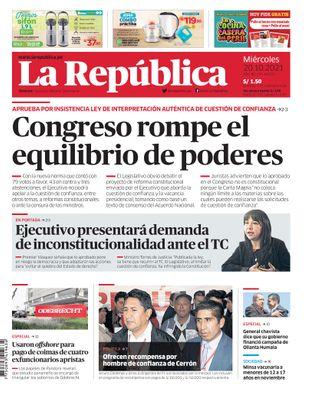 Edición Impresa - La Republica | Lima - Miercoles 20 de Octubre del 2021